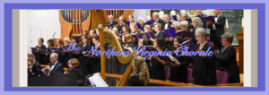 """The Northern Virginia Chorale performing with harp player at """"We Remember Them"""" concert"""