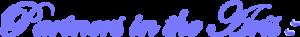 Partners in the Arts - purple script image