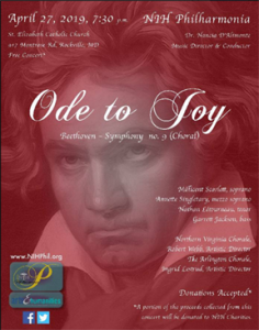 "Beethoven's ""Ode to Joy"" concert image"