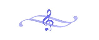 G Clef on wavy purple ornament