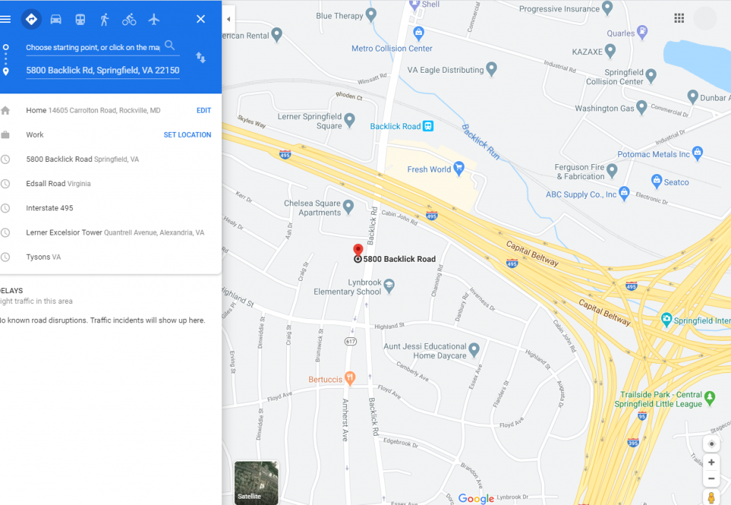 Google map with link to map and directions through Google