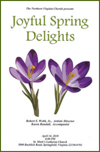 Joyful Spring Delights Concert Program