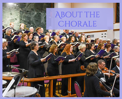 About the Chorale - close up of trio of singers