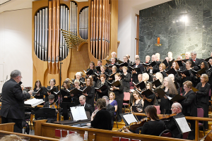 Northern Virginia Chorale performance of 'We Remember Them.'
