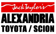 Red and black text logo for Jack Taylor's Alexandria Toyota/Scion