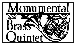 Monumental Brass Quintet black and white logo