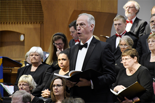 A featured male soloist at the Selections from Handel's Messiah.