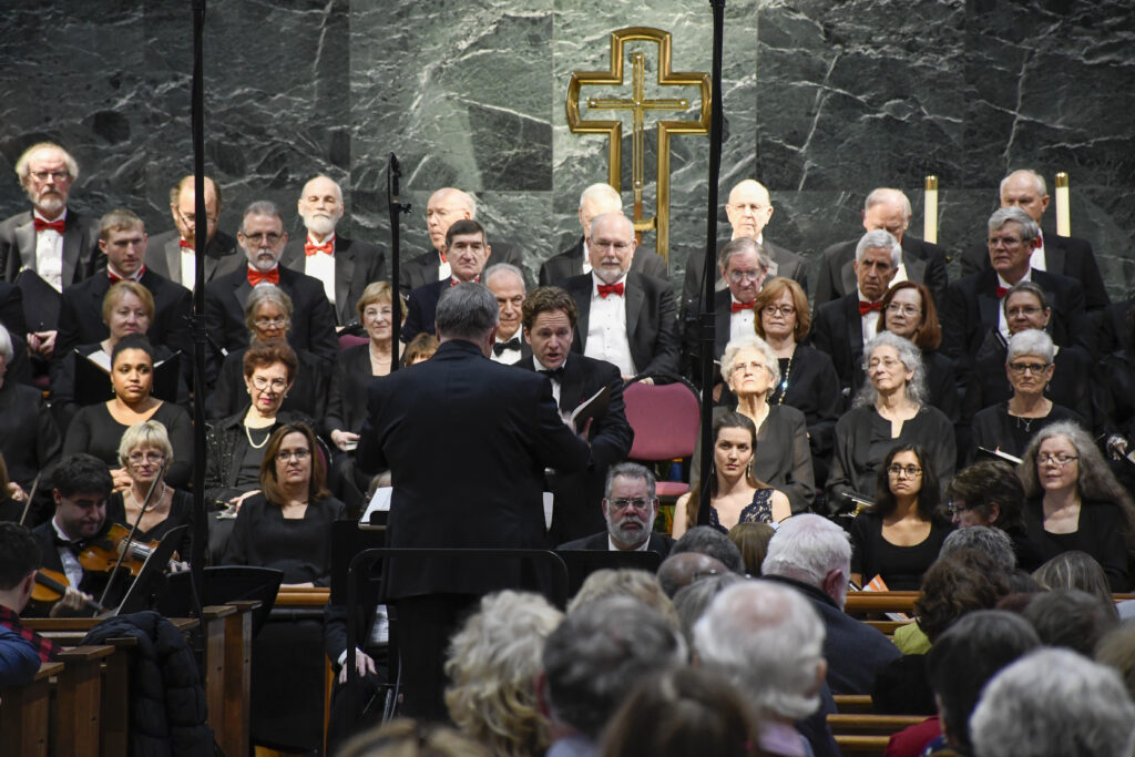 NVC Chorale performing Selections from Handel's Messiah Holiday Concert at St. Mark's