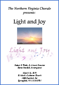 Light and Joy Concert Program Cover